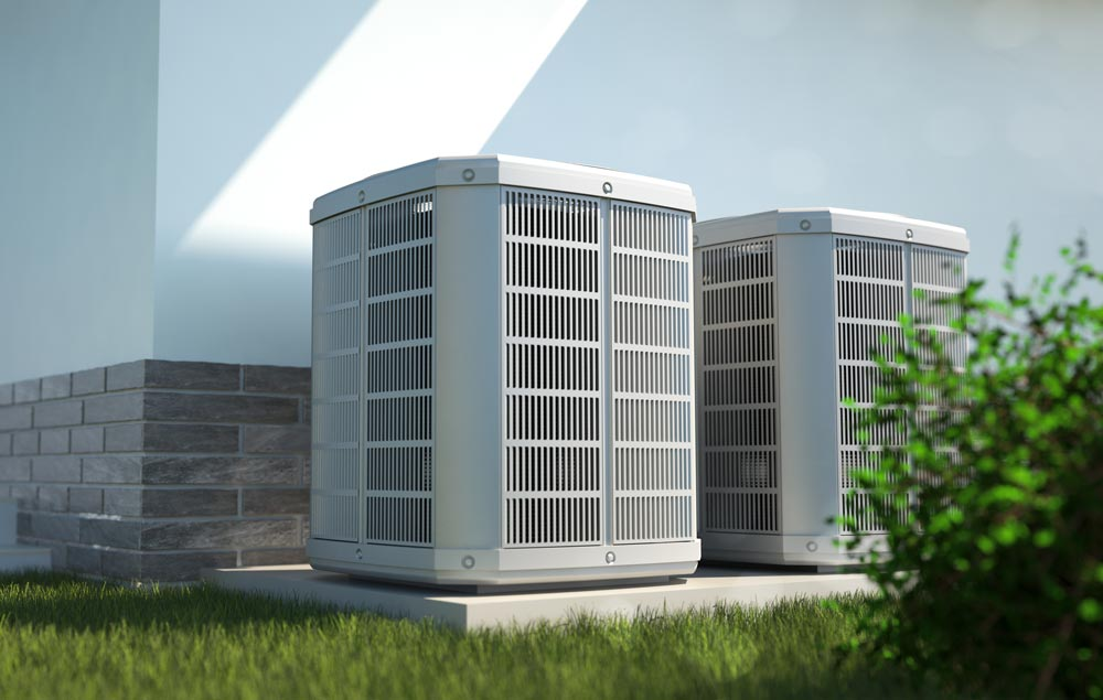 CAM Heating & Cooling | Etowah, NC | residential heating and air units outside a home